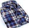 Longue chemise de chemise de bouton de collier de chemise de mode de coton en gros d'hommes