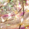 Lâmpada feericamente da decoração do casamento da luz da corda do fio de cobre da bateria do diodo emissor de luz 3AA
