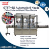 香水(GT6T-6G)のための自動6つのヘッドピストンのりそして液体充填機