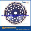 roda de moedura do copo do diamante da fileira do dobro do elevado desempenho de 110mm