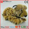 Leopardo suave relleno realista del juguete del guepardo animal de la felpa de ASTM