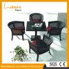 Großverkauf-Rattan-Stuhl-im Freien Möbel-Speisetisch-Set