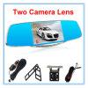 1080P 5インチの表示が付いている二重レンズの自動車カメラ