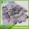 Pares del modelo del gatito que hacen punto guantes por completo impresos de la pantalla táctil de los guantes