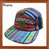カラーは5つのパネルの急な回復の帽子を縞で飾った