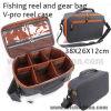 Saco Cheio-Acolchoado do carretel da pesca de mosca da caixa do carretel