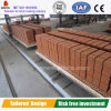 Hollow와 Solid Clay Brick Making를 위한 갱도 Kiln