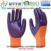 13G Polyester Shell Nitrile 3/4 Coated Gloves (N1503) Smooth Finish с CE, En388, En420, Work Gloves