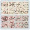 Clavar las etiquetas engomadas de sellado calientes del arte del clavo del día de tarjeta del día de San Valentín de la decoración del arte
