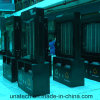 Exhibición de publicidad de contenedores de polvos giratorios de acero al aire libre vertical