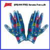 PU покрыл трудные защитные перчатки работы Guantes (PU 10017)