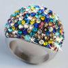 De veelkleurige Ringen van het Roestvrij staal voor de Gift van de Verjaardag van het Huwelijk