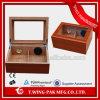 주문을 받아서 만들어진 작은 명확한 유리제 최고 나무로 되는 담배 저장 상자 시가 박스