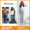 Pantalones vaqueros del dril de algodón de las muchachas de la mujer del estilo de Europa nueve pantalones