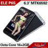 Originele Phones 6.3 Inch Elephone Mtk6592 Octa Core 1.7GHz Smarphone Android 4.2 2gbram 16gbrom 3G GPS OTG Gesture