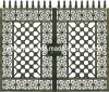 Puerta de aluminio del chalet de /Electric de la puerta de la entrada del metal noble (HYL938)