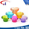 Suporte de vela de vidro de Tealight da forma colorida do cilindro do estilo chinês (CHZ8017)