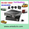 4 vehículo 2tb HDD/SSD DVR móvil del canal 1080P con WiFi/GPS/3G/4G