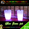 Muebles para el patio Plástico impermeable brillante LED Solar Flower Pot