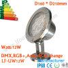 luz subacuática de 12W LED, luz subacuática del punto del LED, luz de la fuente de 12W LED
