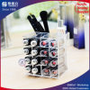 Support acrylique de rouge à lievres pour l'étalage cosmétique