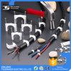Пластичные зажимы держателя кабеля с качеством стального ногтя хорошим