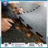 SBR нижних напольных голубых резиновый плиток пола для рециркулируют резиновый плитку