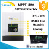 Contrôleur solaire maximum Sch-80A de charge de MPPT 80A 12V/24V/36V/48V picovolte 150VAC