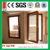 Окно красного деревянного изготовленный на заказ цвета алюминиевое