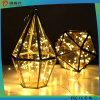 luces con pilas para al aire libre, caseras, Gardon, Festvial de la cadena del alambre de cobre de 3AA LED