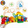 Поезд номера детей пластичный преграждает игрушку
