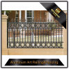 Frontière de sécurité en aluminium de poudre de jardin de métier enduit décoratif de fer pour la décoration