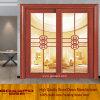 Glace en bois élégante glissant la porte française (GSP3-011)