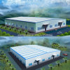 Edificio de acero profesional de la estructura de acero del almacenaje del taller del almacén