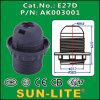E27 Plastic Lampholder, Нажимать-в Terminals (кольцо Outer)