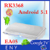 Cadre androïde de l'androïde 5.1 Rk3368 TV d'Eny Ea05 avec à télécommande