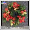 Luz de interior de la decoración de la guirnalda de la Navidad de la corona LED de la flor del adorno