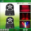 Fabricante profesional de iluminación principal móvil de la colada de 6PCS LED