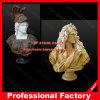 Statua femminile di marmo variopinta materiale del busto del livello elevato