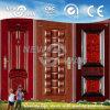 Porte en acier Porte à une seule feuille Porte de sécurité en acier laminée à froid (NSD-1006)