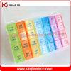 Plastikmonatspille-Kasten, Großhandelspillekasten, kundenspezifischer Pillebehälterkasten, Medizin-Kasten, Monatspillekasten