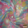 Poly Corée tissu estampé par fleur teint de tissu d'organza de 100%