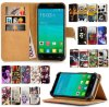 Leather universal 5.5  Print Stand Cover para Elephone P8000 Flip Caso