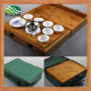 Viagem de bambu Cerâmica Kung Fu Tea Set