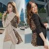 2015 trajes de gasa de la moda del leopardo de las mujeres del ocio (50021)