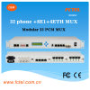 32*Pots Multi-Service modulaire +8e1+4*100m Optical Multiplexer