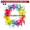 Articles promotionnels multicolores hawaïens d'étincelle de tresse de fleur de leu de Luau (BO-3006)