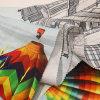 Tela del ramio de la impresión de la manera para la ropa
