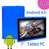 タブレットのPCサポート外面3Gの1080pプレーバック、7 アンドロイド4.0.4 A13 1.2GHz