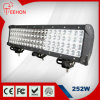 20  크리 말 24V 252W 4X4 Work LED Light Bar